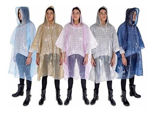 Rain Poncho Ligero Impermeable Rain Gear Con Capuchas De Cor