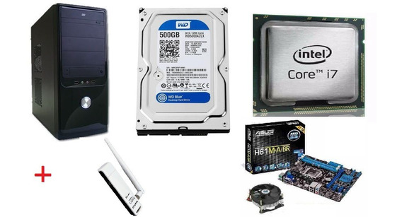 Computador Gabinete Core I7 / 4gb / Hd 500gb / Wireless