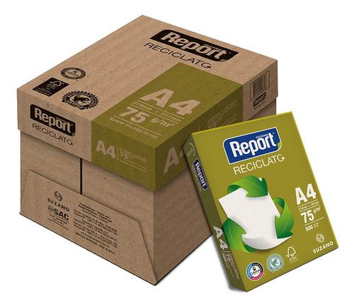 Papel Reciclado A4 75g Caixa Com 5 Resmas Reciclato Report