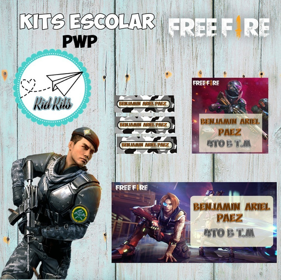 Kit Imprimible Free Fire Kit Escolar Kdkt0058