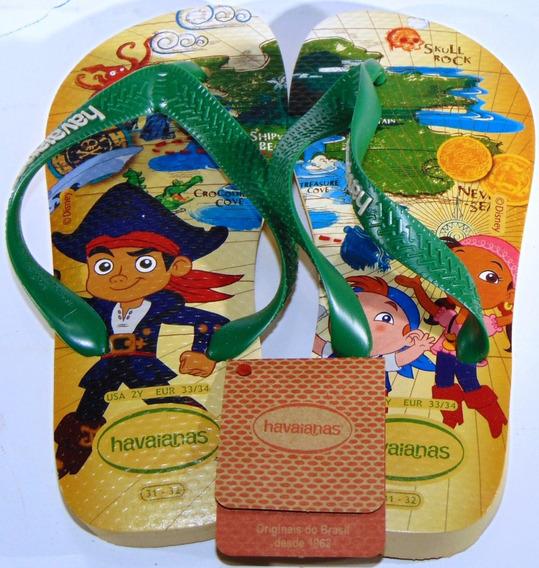 Ojotas Havaianas Disney Piratas Del Caribe 25/36 Originales
