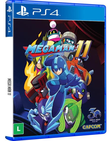 Jogo Megaman Mega Man 11 Ps4 Midia Fisica Cd Original Novo