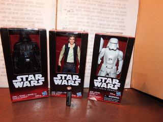 3 Figuras Disney Star Wars Darth Vader Han Solo Tropper