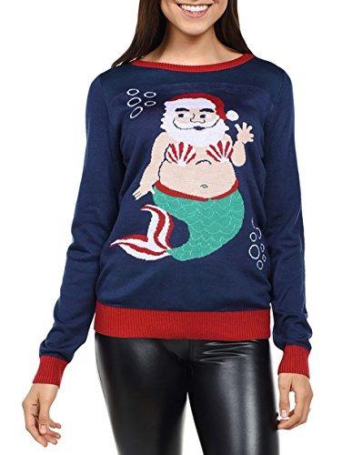 Sweater De Sirena Santa De Tipsy Elves: Mediano