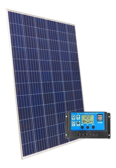 Kit Solar Panel 100w + Regulador De Carga 10 Amper 12v