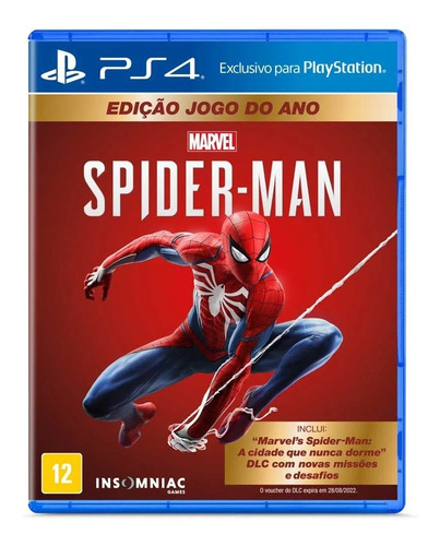 Jogo Marvel's Spider-man Game Of The Year Goty - Ps4