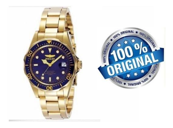 Relógio De Pulso Luxo Pro Diver Invicta 8937 Ouro 18k Original
