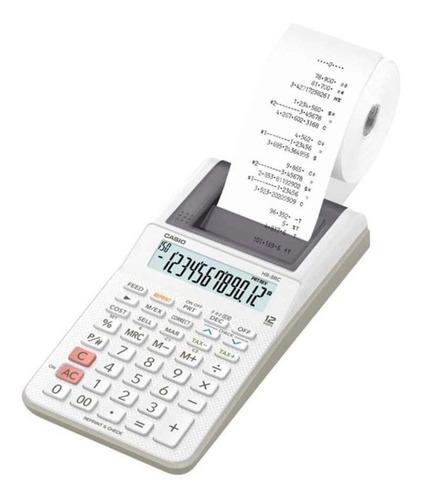 Imagen 1 de 2 de Calculadora Casio Hr-8rc-we-dc  Relojesymas
