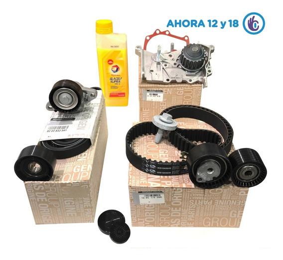 Kit Distribucion Kangoo Bomba Poly V 1.6 16v K4m Ahora 12 18