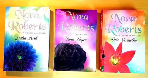 Dália Azul + Rosa Negra + Lírio Vermelho Trilogia Das Flores