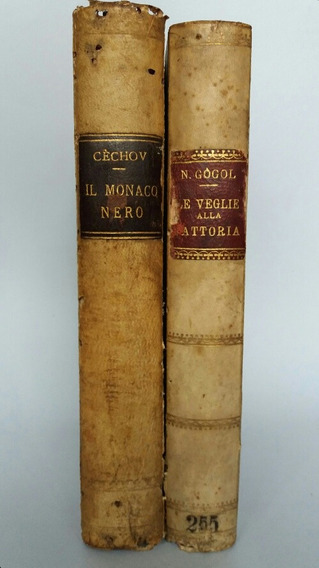 Antigos Livros De Clássicos Russos Em Italiano 1929 / 1931