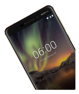 Nokia 6 32gb Lector De Huella Camara 16mp Silicon De Regalo