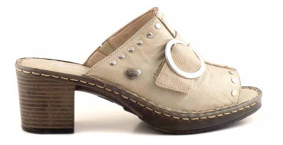 Zueco Cuero Mujer Cavatini Plataforma Zapato Taco Mcsu48030