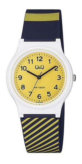 Relógio Infantil Masculino Branco E Azul Q&q Prova D