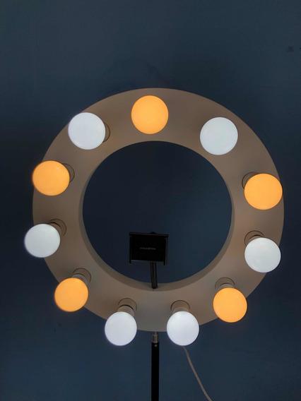 Ring Light 11 Leds + Tripé + Suporte De Celular