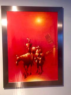 Pintura El Quijote Al Oleo