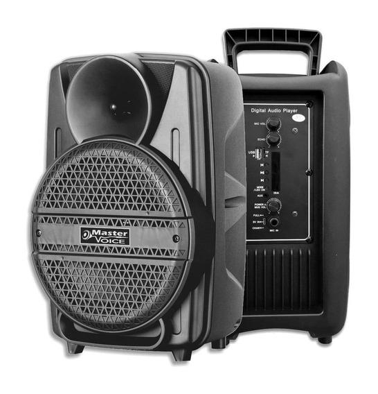 Caixa de som Master Voice MV-08 portátil sem fio Preto