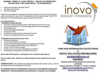 Gestión De Créditos Hipotecarios Y Leasing. Region Metropitana