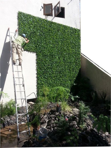 Imagen 1 de 4 de 10 Pzas Follaje Artificial Sintetico Para Muro O Pared Verde