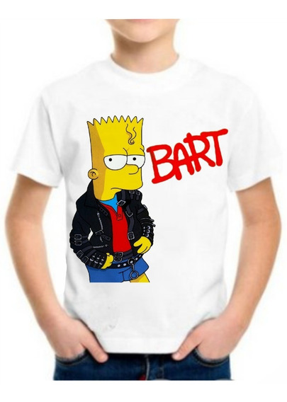 Camiseta Camisa Infantil Roupas Simpsons Crianças Digital 3d