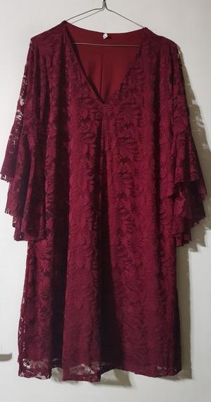 Vestidos Encaje Elastizado Mangas Oxford T 2,4 Y 6