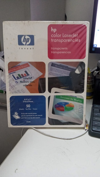 Transparência Hp Laserjet Color Carta 50 Folhas C2934a