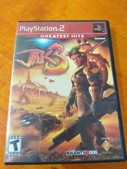 Jak 3 Ps2 Mídia Física Com Manual