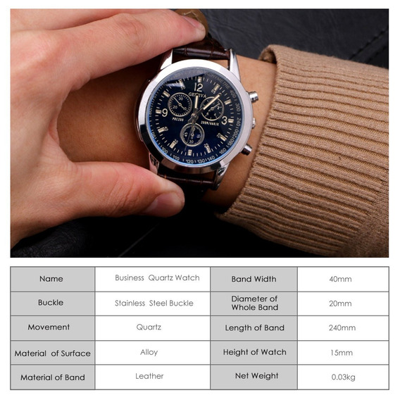 Relógio Masculino Quartzo Aço Stilo Militar Geneva