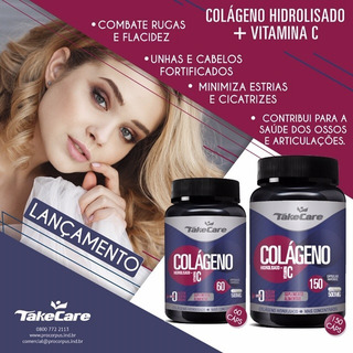 Colágeno Hidrolisado + Vitamina C 500mg C/60 Caps Take Care