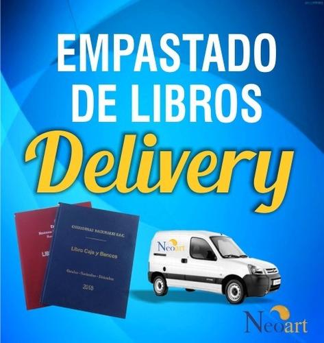 Imagen 1 de 3 de Empastado De Libros Contables Delivery Lima Y Todo El Peru
