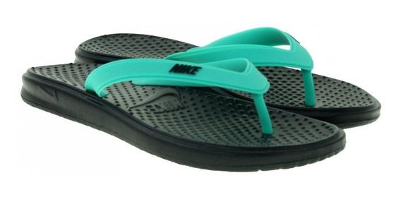 Sandalia Nike Solay Thong Aqua Negro As 22-27 Originales.