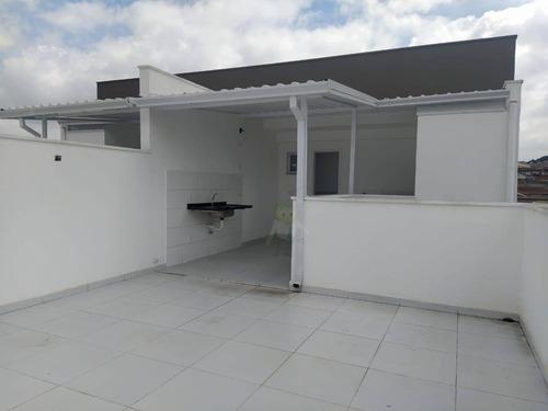 Cobertura Com 2 Dormitórios À Venda, 97 M² Por R$ 460.000,00 - Jardim Ocara - Santo André/sp - Co0324