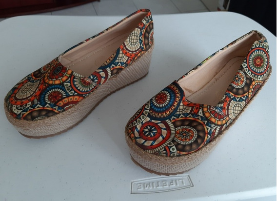 Zapato Alpargata Plataforma Para Dama M & M Número 23