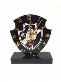 Relógio De Pedra Natural Granito Preto Vasco Frete Grátis