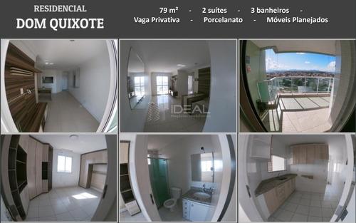 Imagem 1 de 1 de Apartamento No Ed. Dom Quixote - Campos Dos Goytacazes, Rj - 13307