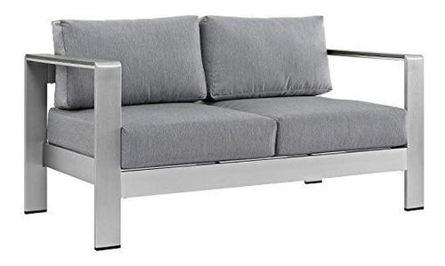 Imagen 1 de 4 de Sofa Convertible De Aluminio Para Patio Al Aire Libre Modwa