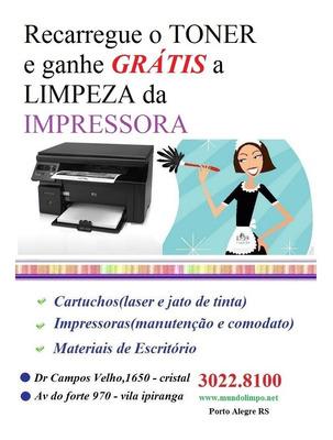 Recarga De Toner + Limpeza Grátis Na Impressora