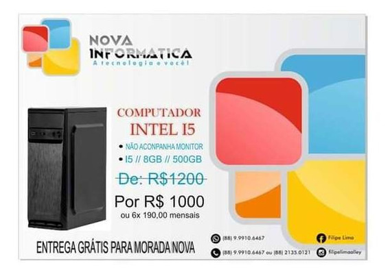 Cpu I5 8gb 500gb