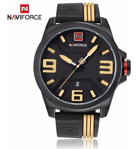 Relógio Masculino Original Naviforce 3d Borracha Esportivo
