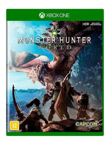 Monster Hunter World Xbox One Mídia Física Novo Lacrado