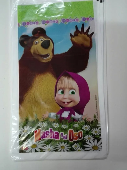 Bolsitas X 10 Plast Para Cumpleaños De Masha Y El Oso