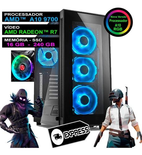 Imagem 1 de 5 de Pc Gamer Computador Completo Ryzen 16gb Ddr4 Ssd Nfe Wifi