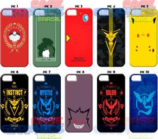 Capinha Capa Pokémon Go Pikachu iPhone 5 5s 6 6s 7 8 Plus X