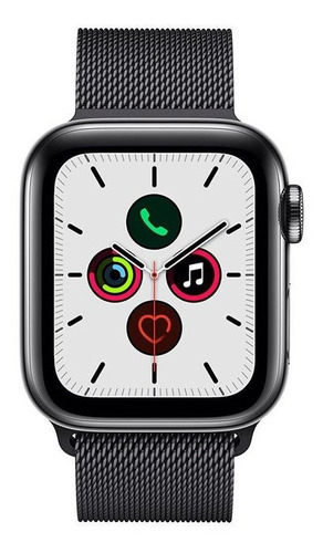 Smartwatch Apple Watch Series 5 40mm - Pulseira Aço - Cinza/preto