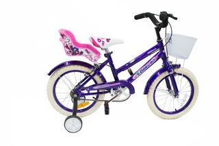 Bicicleta Paelmo Cross Full R16 C/ Portamuñeca Y Canasto