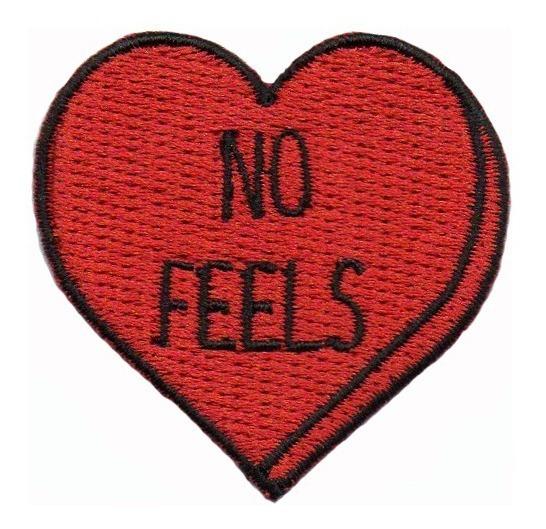 Patch P/ Jaqueta Calça Jeans Fashion Coração Sem Sentimentos
