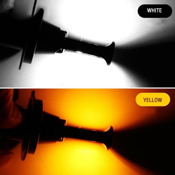 Lampada D Led Alto/baixo Com Cores Branca E Amarela 20w H4