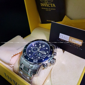 Relogio Invicta 0070 Pro Diver Original Prata Mostrador Azul