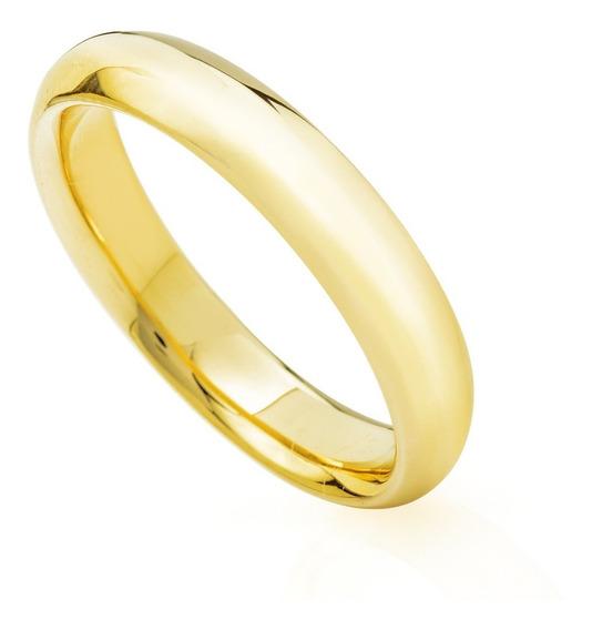 Aliança Casamento Ouro 18k Air Comfort Anatômica Feminina Ta