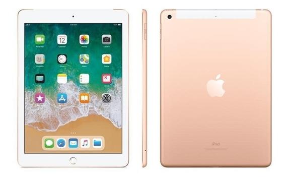 Apple iPad + Cellular + Wifi 2017 Gold Novo Lacrado A1823 #